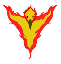 Isolated phoenix icon vector