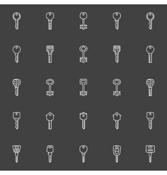 Key icons collection vector image vector image
