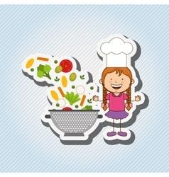 Kids cooking design vector