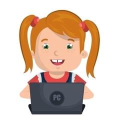 Kids smilins colorful cartoon design vector