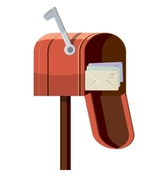 Mailbox icon cartoon style vector image