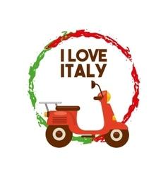 Motorcycle icon italy culture design vector