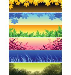 plant banners vector image vector image
