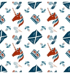 Scottish seamless pattern vector image vector image