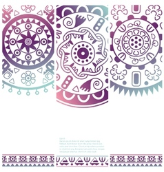 Set of banners with ethnic decorative ornament vector image vector image