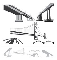 set of bridges vector image vector image