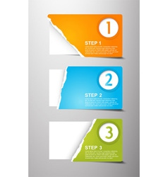 Set of teared card with place for your own text vector image vector image