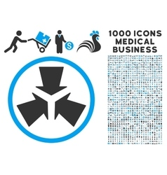 Shrink arrows icon with 1000 medical business vector