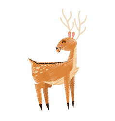 single deer icon image vector image vector image
