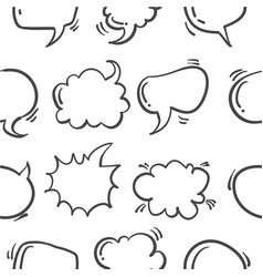 Speech bubble hand draw pattern style vector