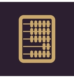 The abacus icon finance and calculation vector