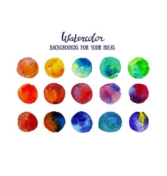 Watercolor circles Colorful template for your vector image vector image