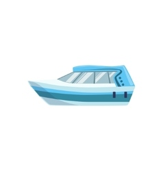 White modern motor type of boat icon vector