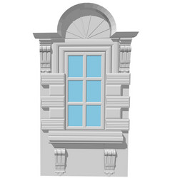 window with an arch vector image vector image