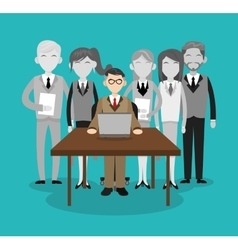Human resources employee design vector