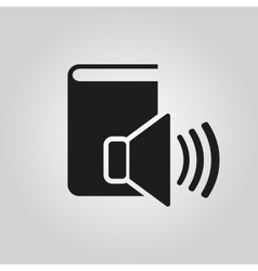 Audiobook icon design library symbol web vector