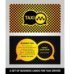 Visiting cards taxi vector