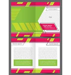brochure design template geometric abstract vector image