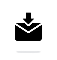 Incoming mails icon on white background vector
