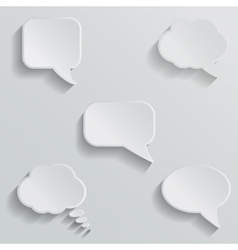 Chat bubbles - paper cut design white color on vector