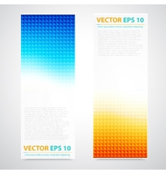 Flyer template header design vector