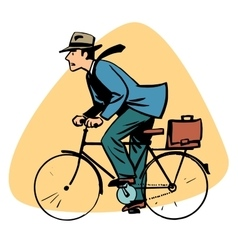 Businessman riding bicycle business people concept vector