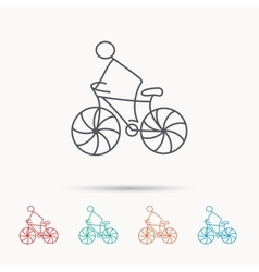 Biking sport icon bicycle race sign vector