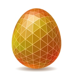 Abstract polygonal easter egg vector