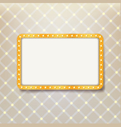 Golden retro frame vector