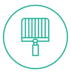 Empty barbecue grill grate line icon vector