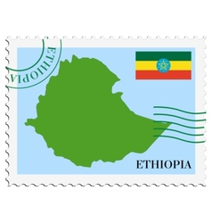 Mail to-from ethiopia vector