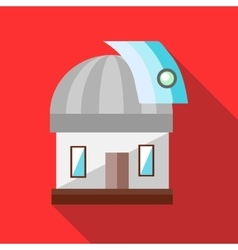 Observatory station icon in flat style vector