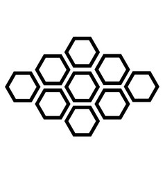 black hexagonal icon on white background vector image vector image