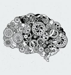 clock mechanism in human brain different vector image