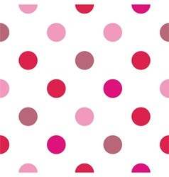 Colorful big pink red polka dots background vector image