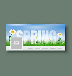 Design web banners with spring landscape vector