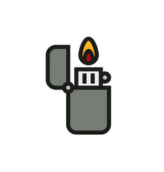 Fire lighter icon on white background vector