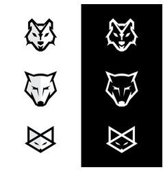 fox and wolf vector image vector image