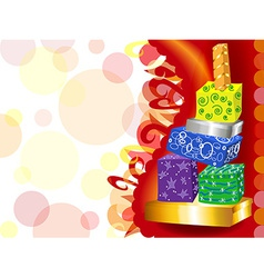 Funky gift tower vector