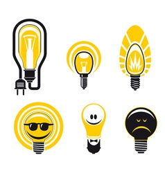 light bulbs symbols vector image vector image