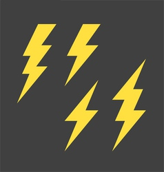 Lightning symbols set vector