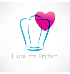 love to cook icon vector image vector image