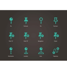 Mapping Pin icons vector image vector image