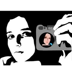mirror image vector image