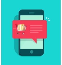 Online ordering notification concept ecommerce vector