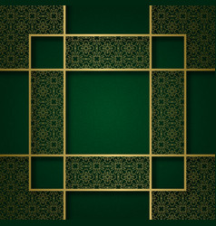ornamental background with square frame vector image vector image