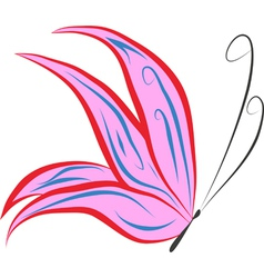 pink butterfly vector image vector image