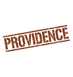 Providence brown square stamp vector