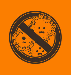 stop viruses and microbes sign vector image vector image