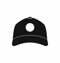 Sun cap icon simple style vector